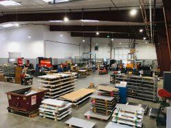 Meta Fab warehouse flat sheet metal stock