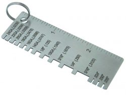 Stainless steel guage tool