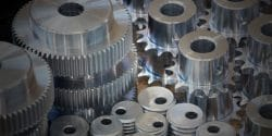 Chromated Machined Gears and Screws