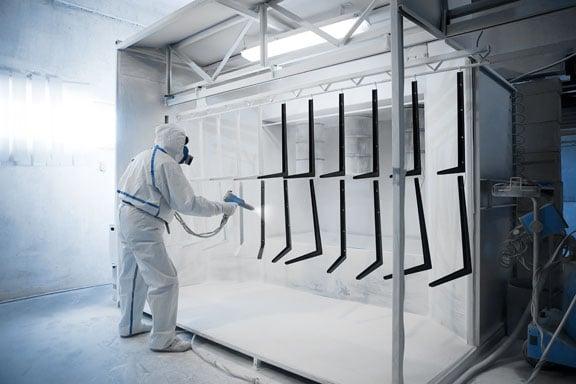 Powder Coating Metal Fabricated Parts