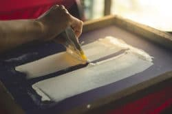 Pulling Silk Screen