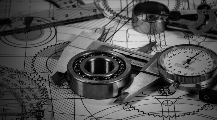 Quality inspection on ball bearings with calipers